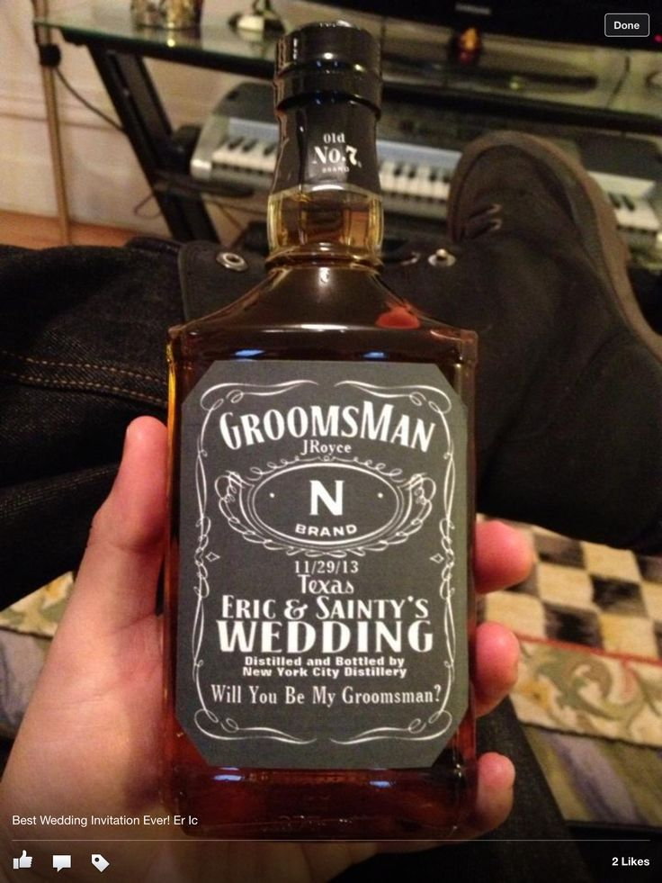 Wedding Gifts For Bridesmaids And Groomsmen : Armando keeps asking how to ask his guys lol.. This seems perfect!