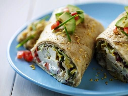 Tofu Hummus Wrap | Yummy Cravings! | Pinterest