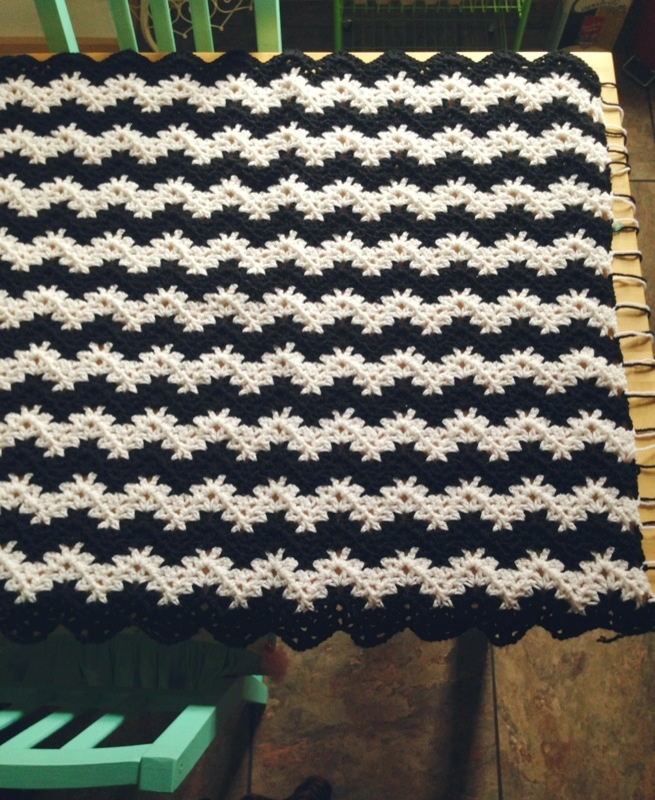 vintage ripple stitch/ crochet / craft day Pinterest