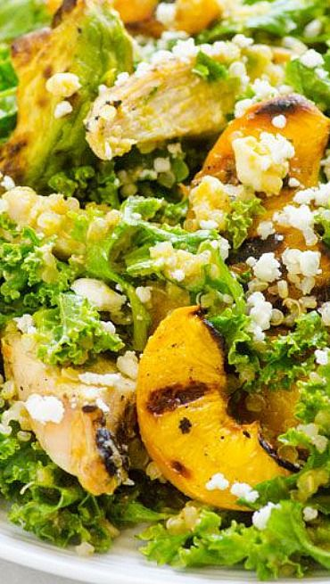 Grilled Avocado With Quinoa Salad Recipe — Dishmaps