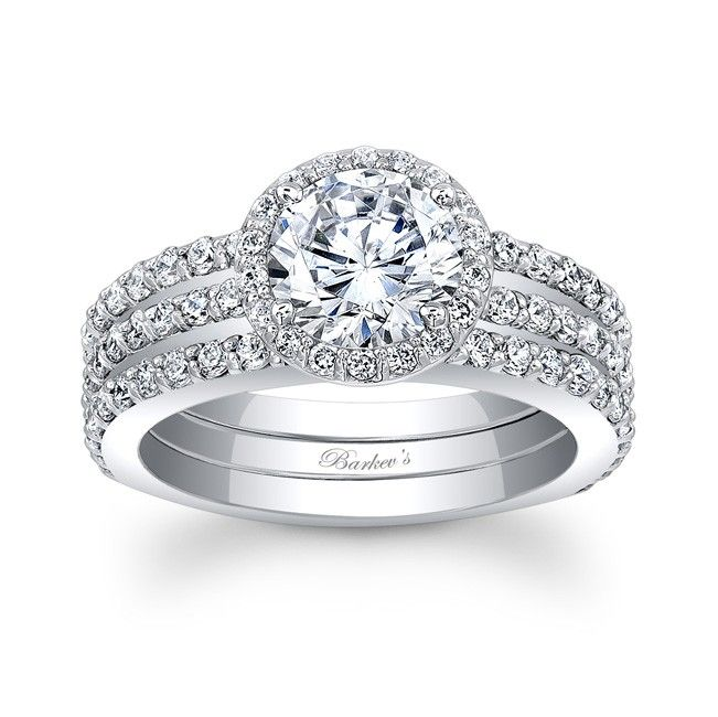 Halo Bridal Set The Perfect Engagement Ring Pinterest