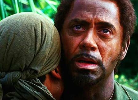 Robert Downey Jr in Tropic ThunderRobert Downey Jr Blackface