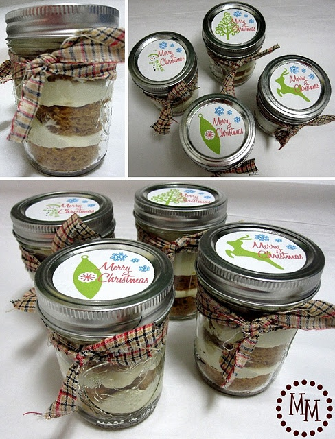 Pumpkin Cake in a Jar... this sounds sooo good-- minus the cream ...