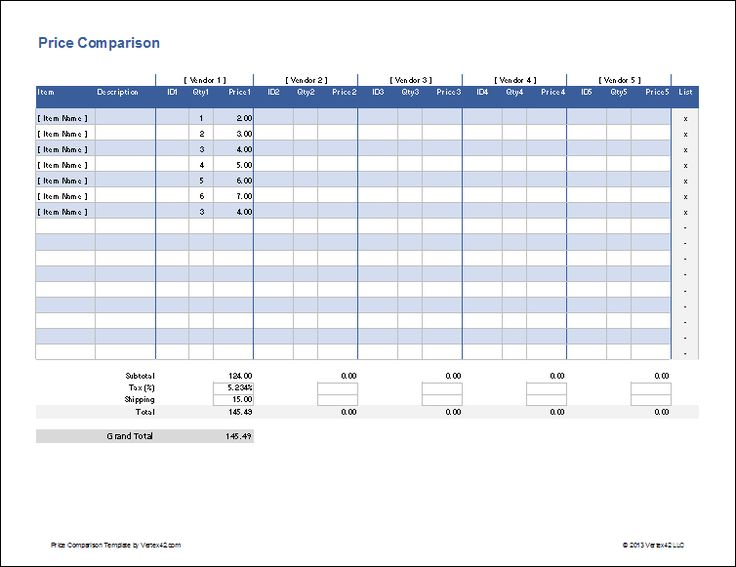 Excel Price Sheet Template Datariouruguay