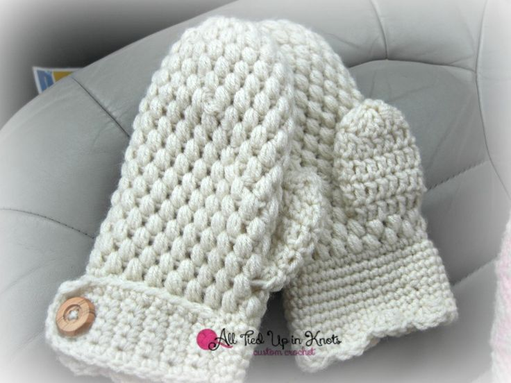 Crochet Jamie Stitch : Crochet Puff Stitch Gloves. Pattern by CrochetTrend. Stitched by All ...