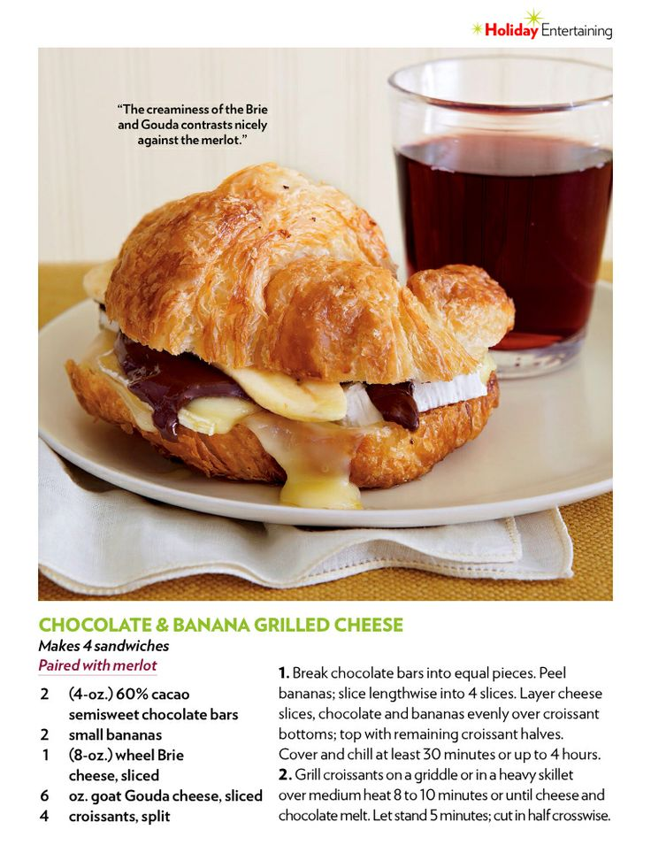Chocolate & banana grilled cheese | FOOD! | Pinterest