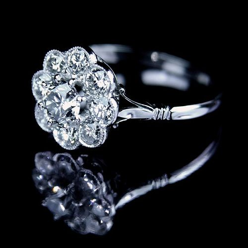 flower shaped engagement ring love jewelry crafts pinterest. Black Bedroom Furniture Sets. Home Design Ideas