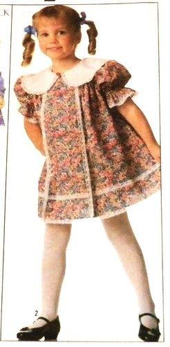 Christmas dress girls vintage pattern 8988 newgirls dress pattern