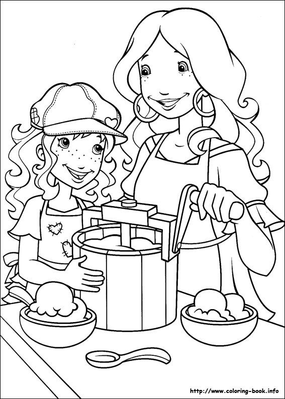 coloring pages of hollyhobbie - photo#32