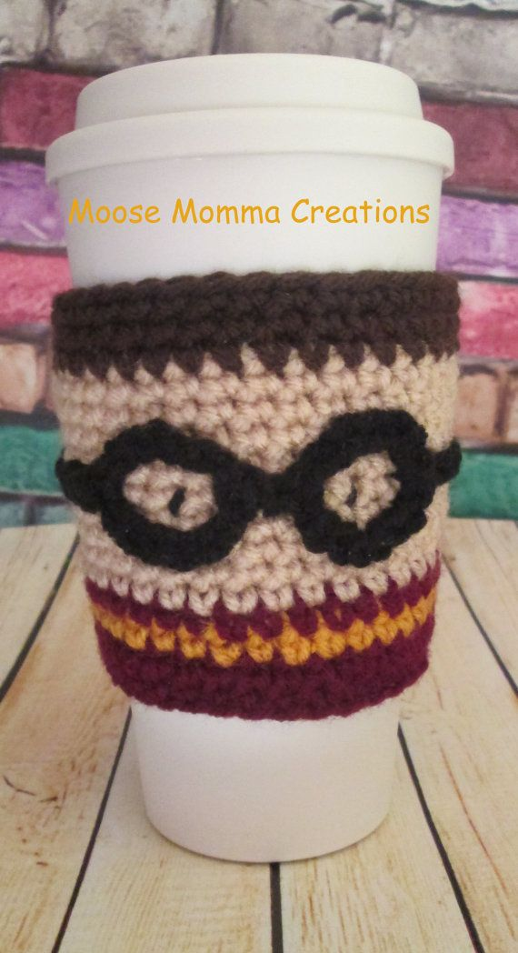 Hand Crocheted Harry Potter Inspired Coffee by MooseMommaCreations, $ ...