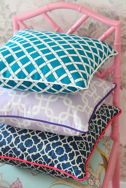 pretty geometric pillows