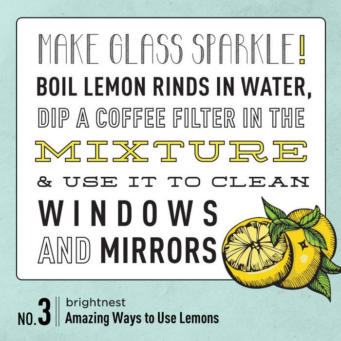 Make glass sparkle with a little lemon and coffee filters!