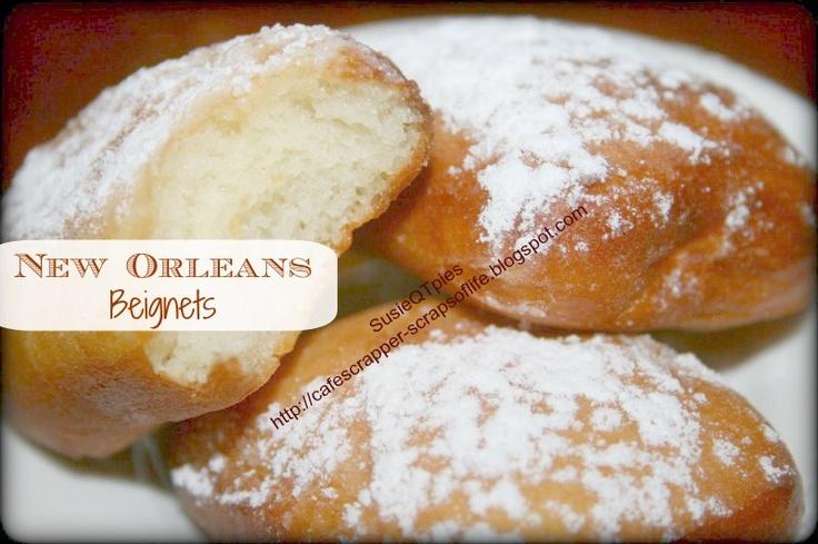 New Orleans Beignets Recipe | Creole | Pinterest