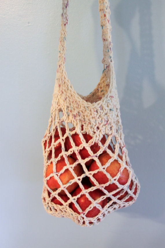 Grocery Bag Crochet : Crochet Market Bag, Farmers Market Bag, Grocery bag, Reusable Bag