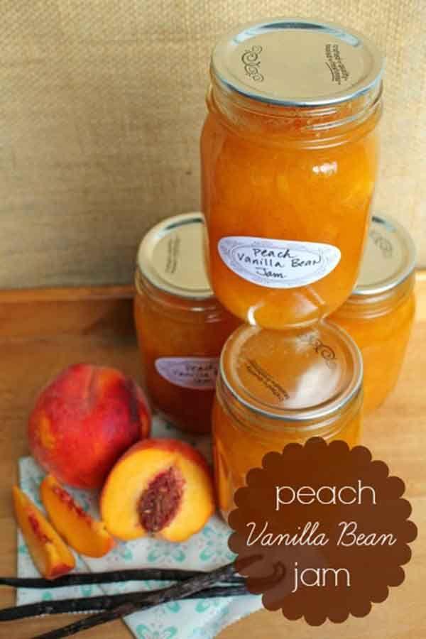 Canning Recipe – Peach Vanilla Bean Jam | canning | Pinterest