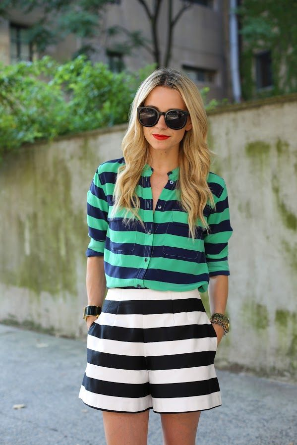 Striped skirt and shirt