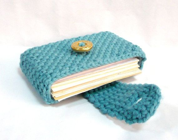 Crochet Wallet : Crocheted Purse Crochet Card Wallet Business Card by MelbaShoppe, $12 ...