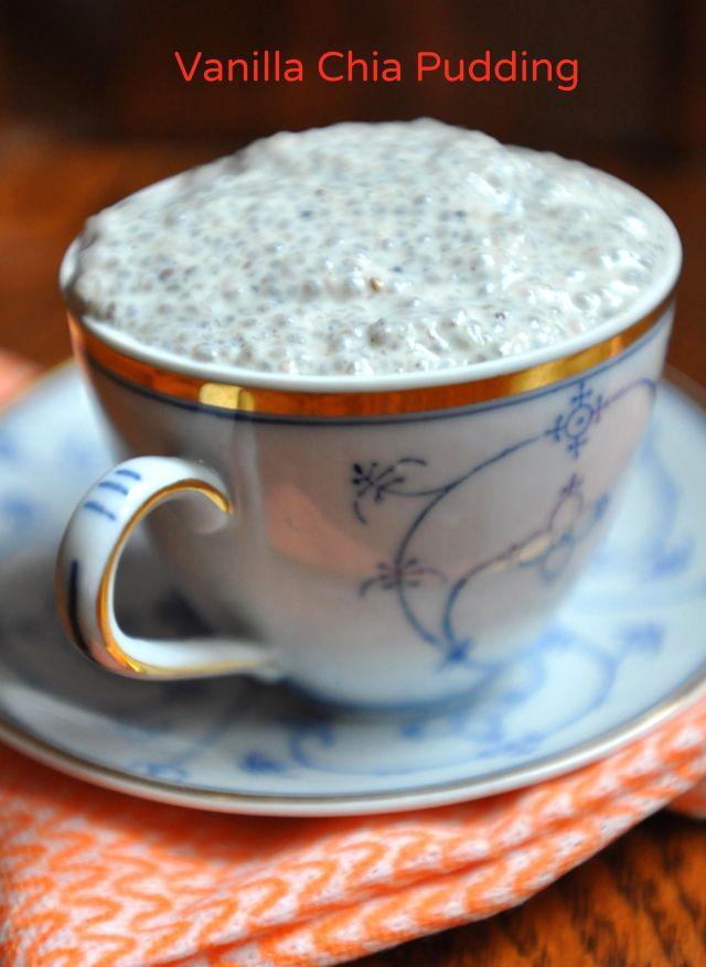 Vegan Vanilla Chia Pudding   Recipes...Desserts   Pinterest