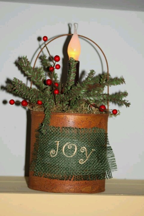 tin can decor christmas pinterest