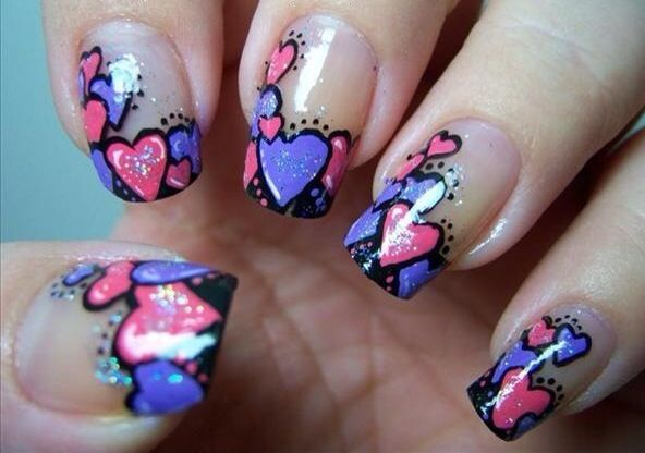 how to do valentine nail designs