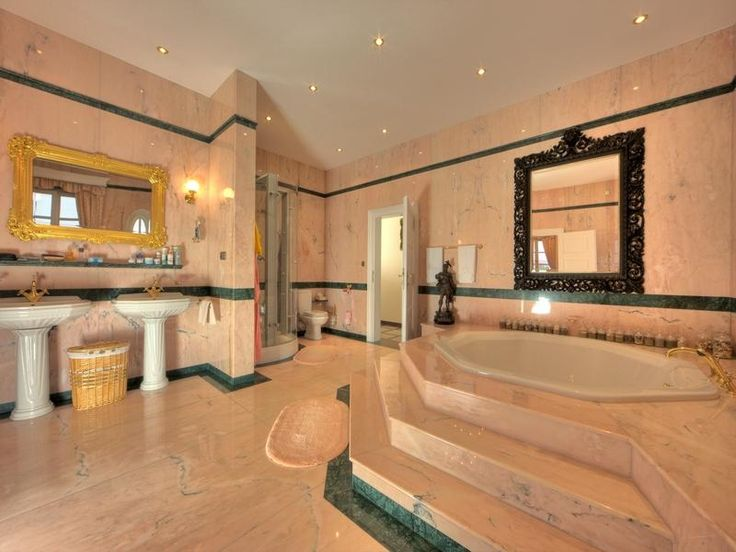 Expensive bathrooms pink bathroom for the home pinterest for Master bathroom mansion