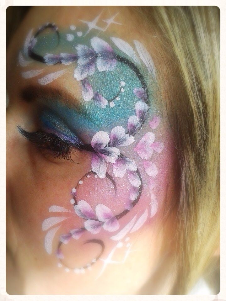 Flower Eye Design Face Painting My Face Paintings