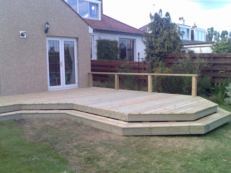 Pin by garden construction company on decking edinburgh for Garden decking edinburgh