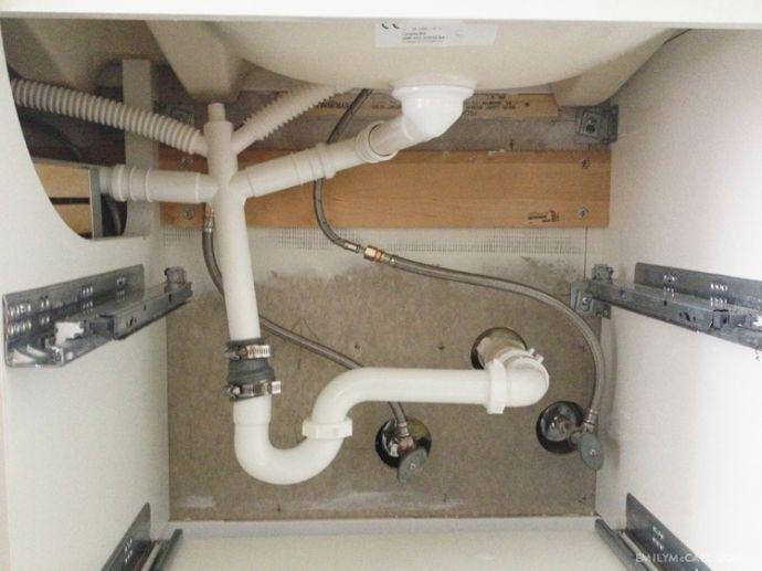 Ikea Malm Bett Letzter Schritt ~ IKEA GODMORGON plumbing hack  EmilyMcCall com