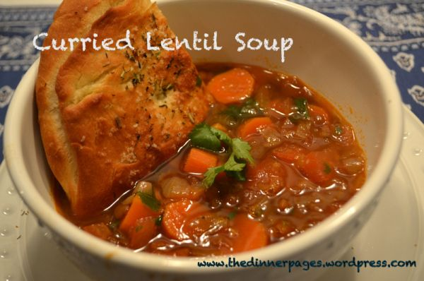 Slow Cooker Curried Lentil Soup: vegetarian, dairy free and totally ...