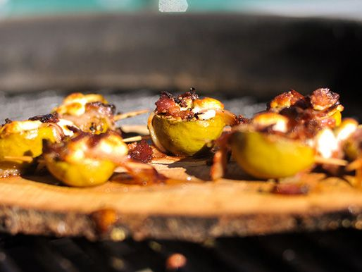 Planked Figs with Pancetta and Goat Cheese | Serious Eats : Recipes
