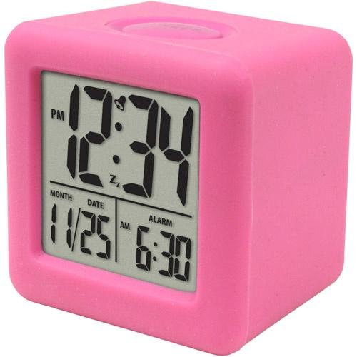 pink digital alarm clock elizabeth 39 s room pinterest. Black Bedroom Furniture Sets. Home Design Ideas