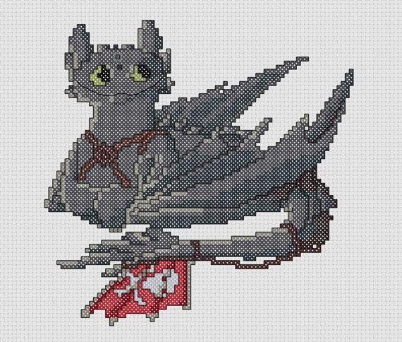 Как приручить дракона вышивка 661