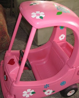 Love bug cozy coupe makeover soda pop pinterest