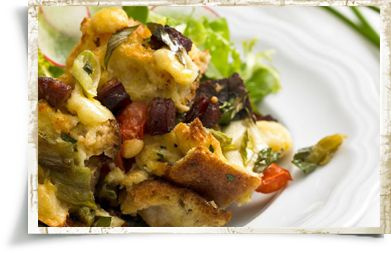 Bacon and Egg Strata with Dubliner and Swiss Cheese - Recipe