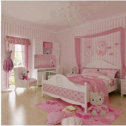 Hello kitty room decor home styles pinterest - Beautiful rooms for little girls ...
