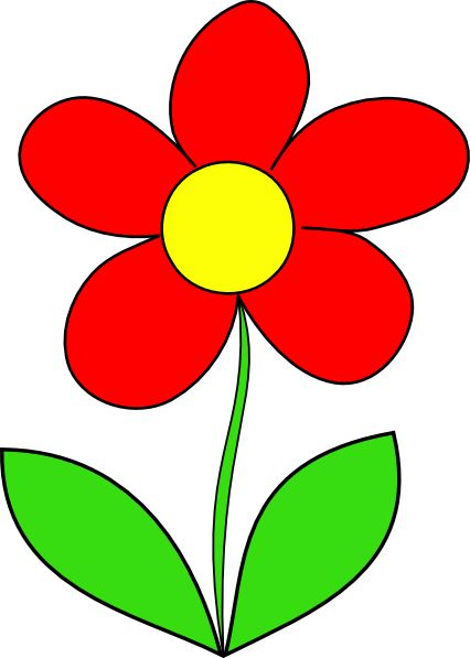 Red Flower Clip Art | Red Flower clip art - vector clip art online ...
