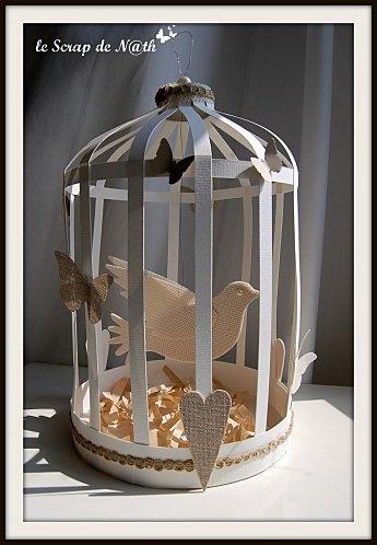 Cage oiseau tuto papier imprimable carton paper for Cage a oiseau decorative