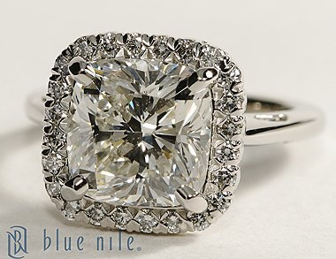 Halo Diamond Engagement Ring. Well aren't you pretty??