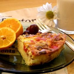 Sweet Italian Sausage Quiche with Hash Brown Potato Crust