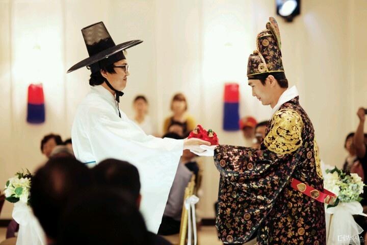 Korean Weddings Bilingual Invitations Letterpress