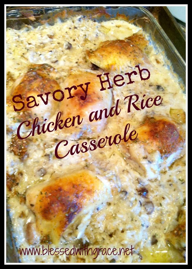 Updated Chicken and Rice Casserole | Food to try | Pinterest