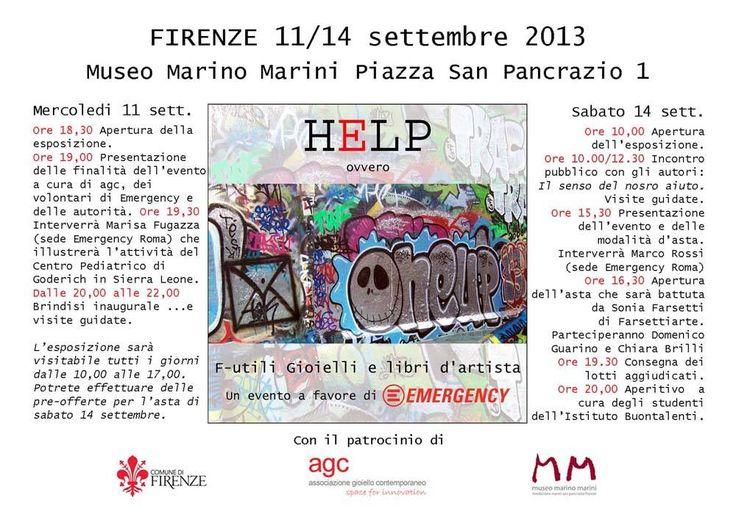 AGC associazione gioiello contemporaneo - F-utili Gioielli a favore di Emergency - 11-14 sept. Firenze