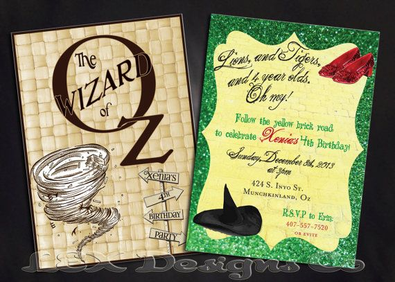 Wizard Of Oz Birthday Invitations could be nice ideas for your invitation template
