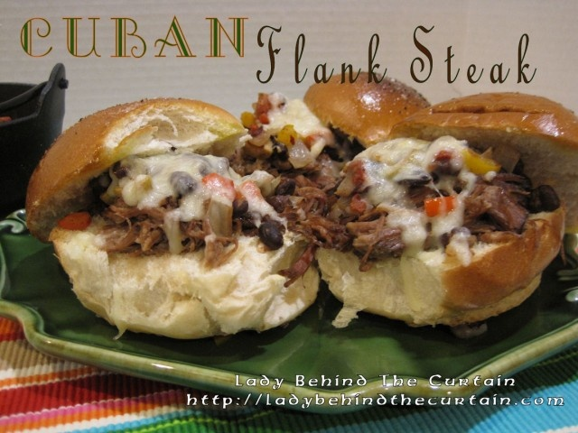 Cuban Flank Steak with Picadillo Relish. - per recipe could be made ...