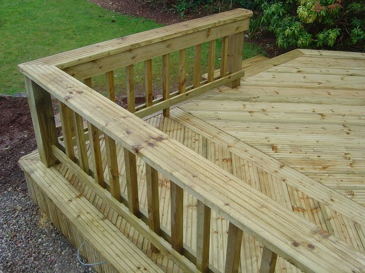 Decking railings outside decorating pinterest for Timber decking handrail