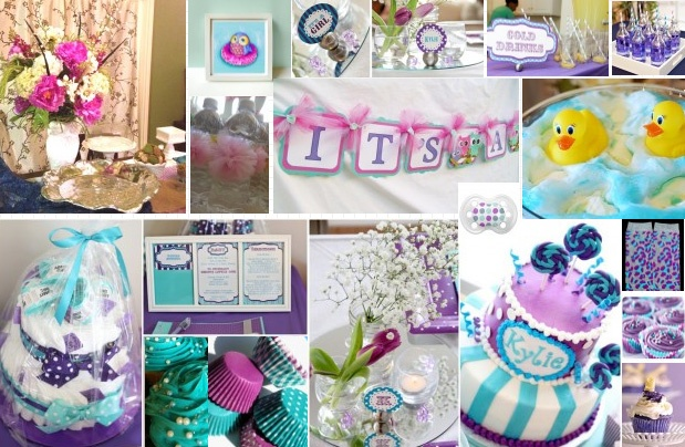 purple and teal baby shower decorations purple and teal baby shower