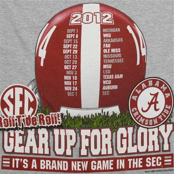 Helmet Schedule University of Alabama 2012
