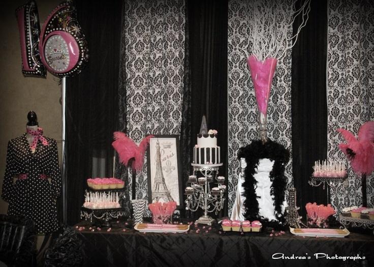 paris theme sweet 16