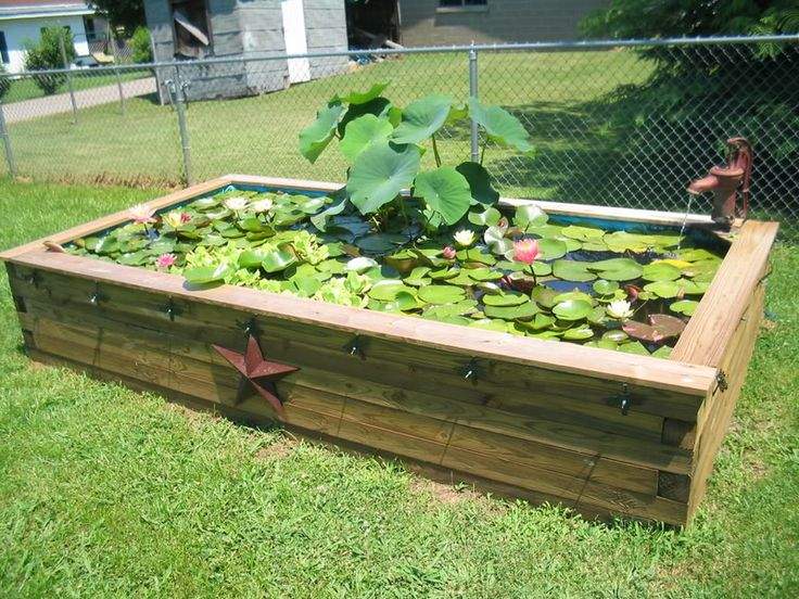 how to make an outside pond
