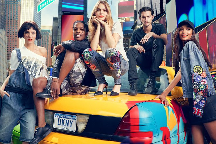 DKNY - ASAP Rocky, Cara Delevingne, Dylan Rieder, Jourdan Dunn and Eliza Cummings